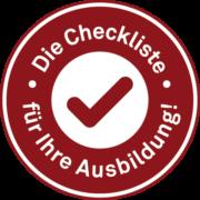 Checkliste für Ihre Ausbildung