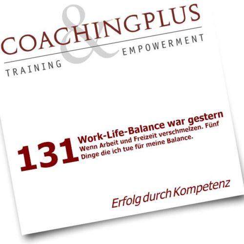 Urs R. Bärtschi, Coach mit eidg. Diplom Work-Life-Balance war gestern -Coaching-Artikel lesen!